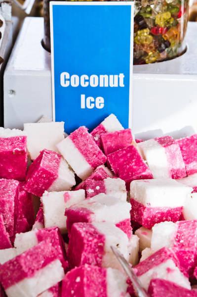 British Food Photograph - Coconut Ice by Tom Gowanlock