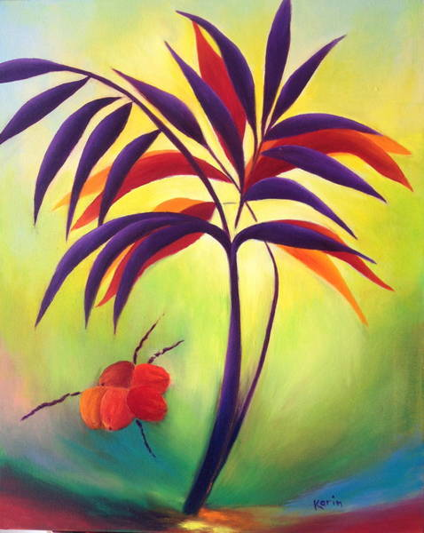 Painting - Coconuts by Karin Eisermann