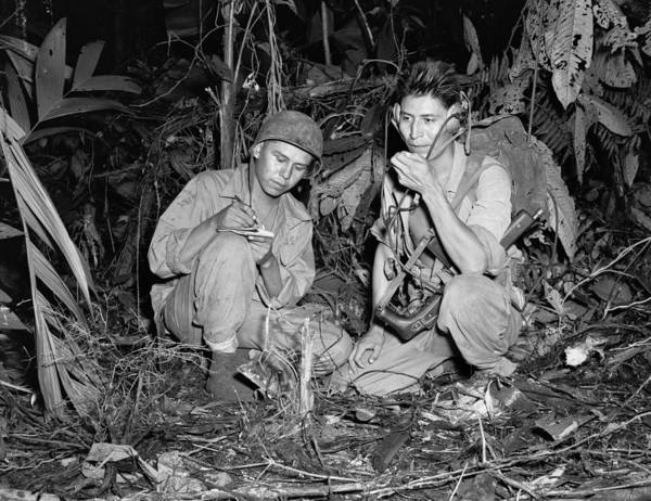 Code Talkers Photograph - Code Talkers, 1943 by Granger