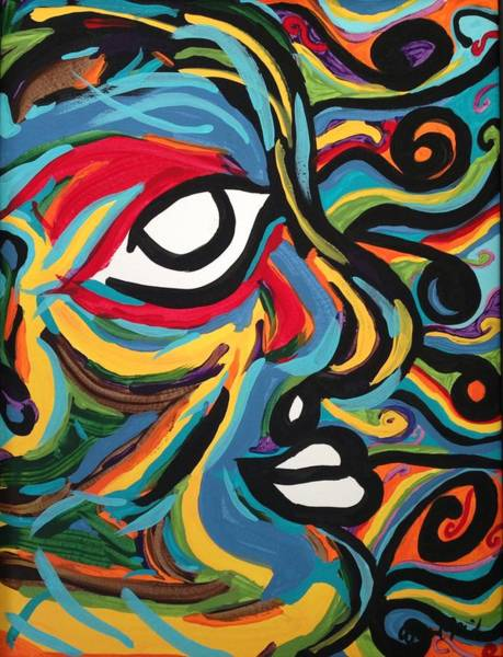Blending Painting - Coexistence by April Mickens