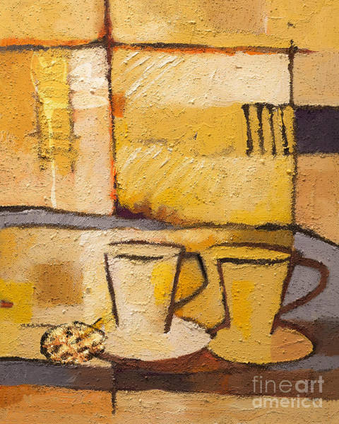 Painting - Coffee And Bisquit by Lutz Baar