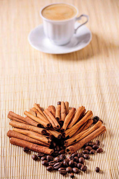 Coffee Photograph - Coffee And Cinnamon by Stock colors