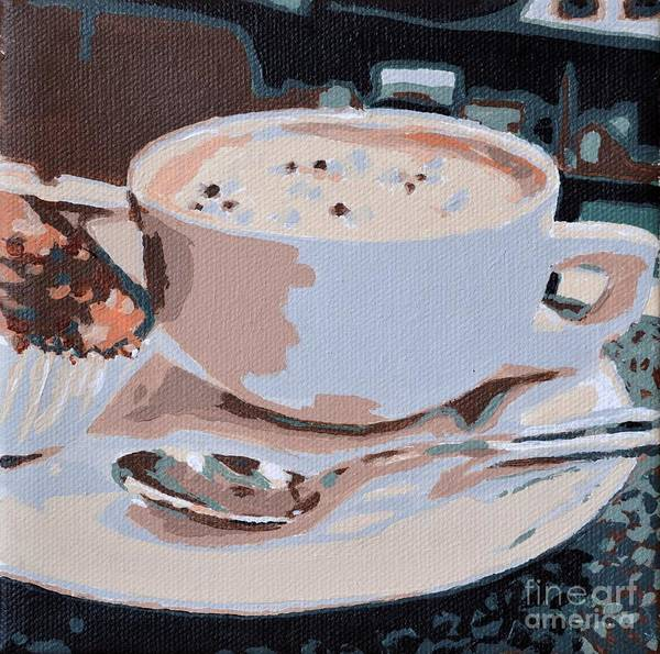 Painting - Coffee And Cupcake by Laura Toth