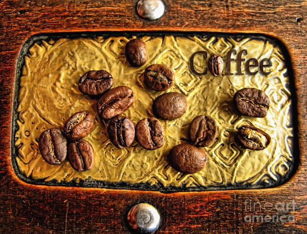 Photograph - Coffee Beans And Wood by Daliana Pacuraru