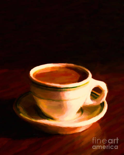 Java Tea Photograph - Coffee Break 20130717 by Wingsdomain Art and Photography