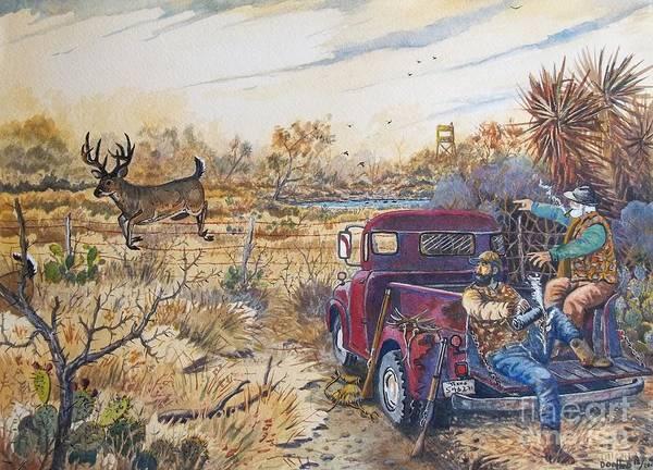 Black Buck Painting - Coffee Break by Don Hand