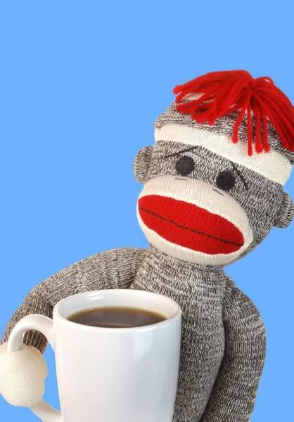 Sock Monkey Photograph - Coffee Break by Jim Hughes