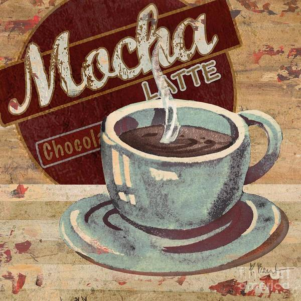 Java Painting - Coffee Brew Sign II by Paul Brent