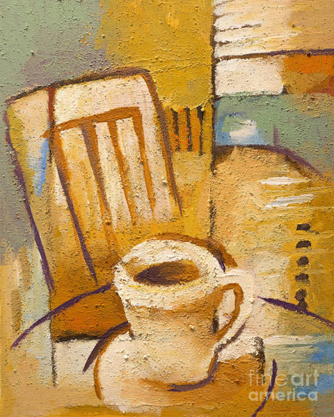 Corner Painting - Coffee Corner by Lutz Baar