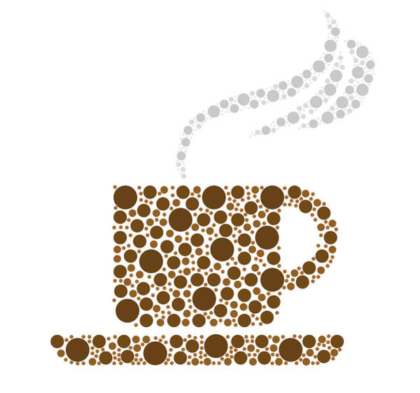 Coffee Drawing - Coffee Cup by Aged Pixel