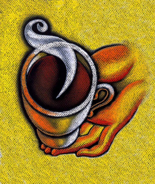 Casual Painting - Coffee Cup  by Leon Zernitsky