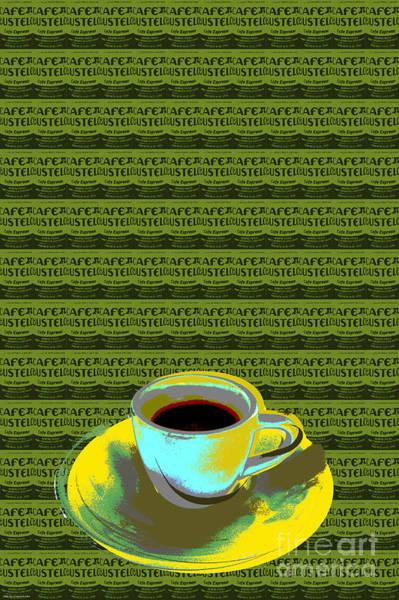 Coffee Cup Pop Art Art Print