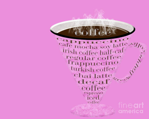 Digital Art - Coffee Cup The Jetsons Hot Pink by Andee Design