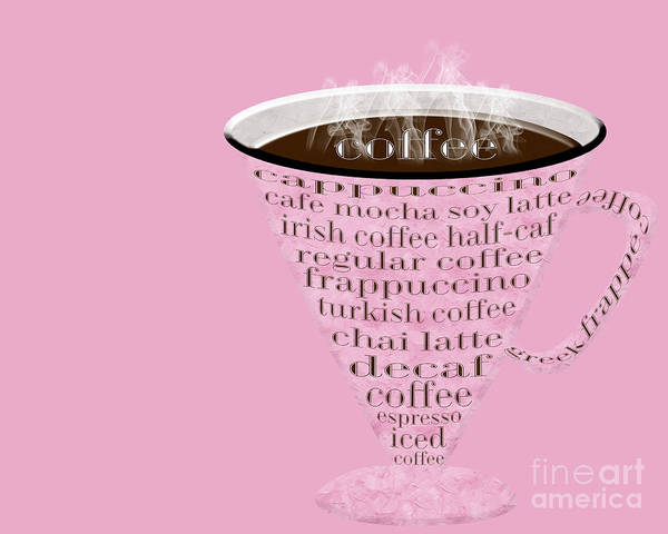 Digital Art - Coffee Cup The Jetsons Pink  by Andee Design
