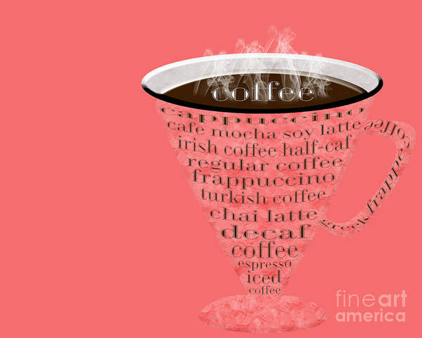 Digital Art - Coffee Cup The Jetsons Red by Andee Design