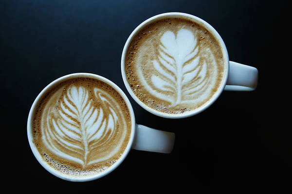 Municipality Photograph - Coffee Delight With Latte Art by Laszlo Podor