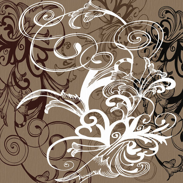 Digital Art - Coffee Flowers 1 by Angelina Tamez