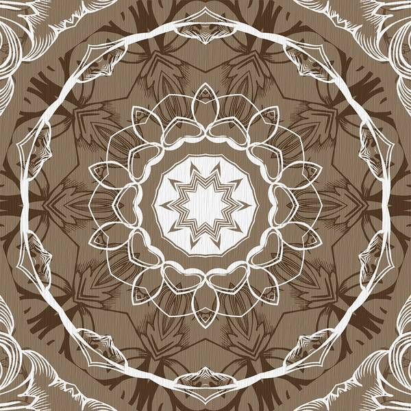Digital Art - Coffee Flowers 1 Ornate Medallion by Angelina Tamez