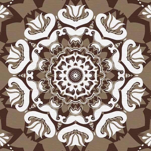 Cosmology Digital Art - Coffee Flowers 10 Ornate Medallion by Angelina Tamez