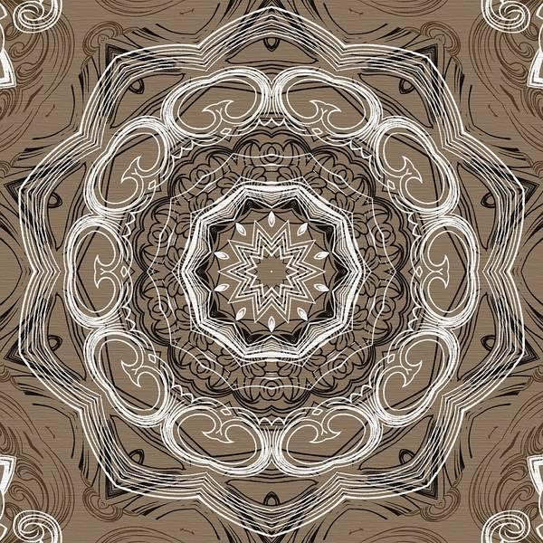 Cosmology Digital Art - Coffee Flowers 2 Ornate Medallion by Angelina Tamez