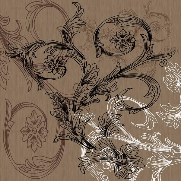 Digital Art - Coffee Flowers 3 by Angelina Tamez