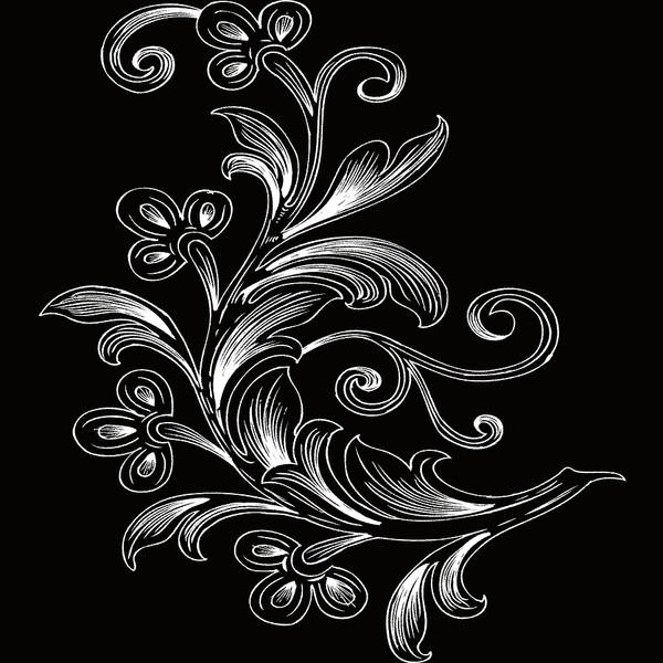 Digital Art - Coffee Flowers 4 Bw by Angelina Tamez