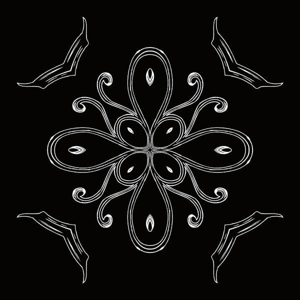 Digital Art - Coffee Flowers 4 Bw Ornate Medallion by Angelina Tamez