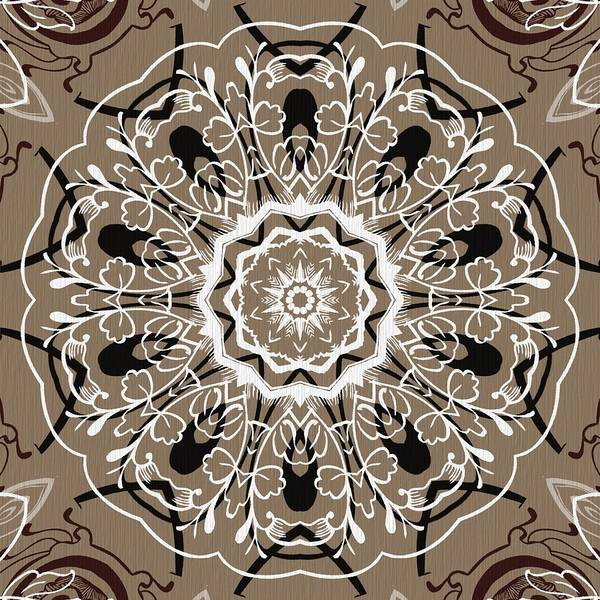 Cosmology Digital Art - Coffee Flowers 5 Ornate Medallion by Angelina Tamez