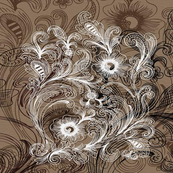 Digital Art - Coffee Flowers 6  by Angelina Tamez