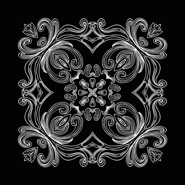 Digital Art - Coffee Flowers 6 Bw Ornate Medallion by Angelina Tamez