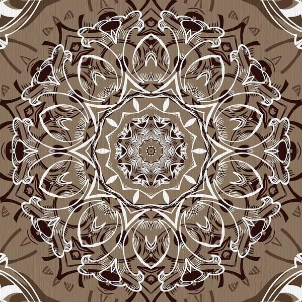 Digital Art - Coffee Flowers 7 Ornate Medallion by Angelina Tamez