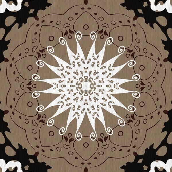 Digital Art - Coffee Flowers 9 Ornate Medallion by Angelina Tamez