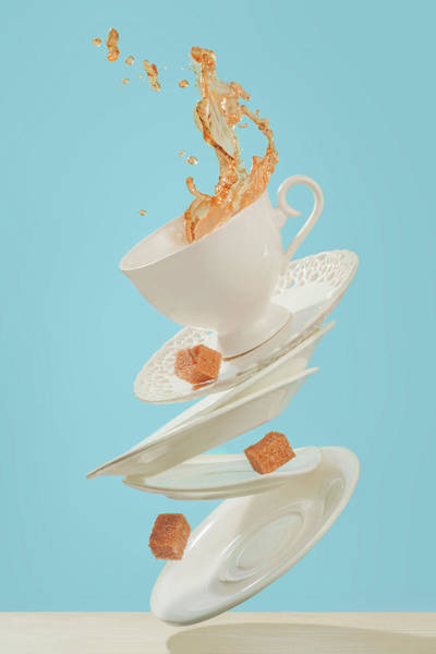 Saucer Photograph - Coffee For A Stage Magician by Dina Belenko