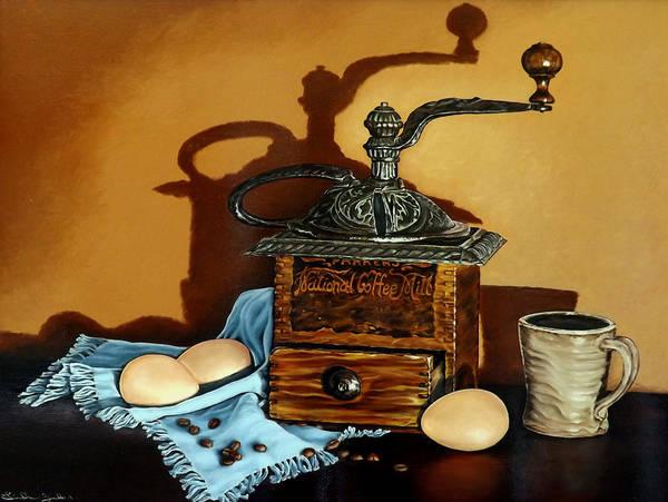 Painting - Coffee Grinder by Linda Becker