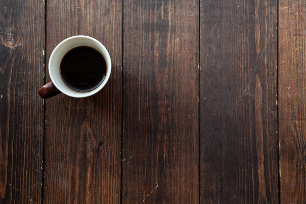 Okayama Prefecture Photograph - Coffee In A Mug On A Wooden Floor by Trevor Williams