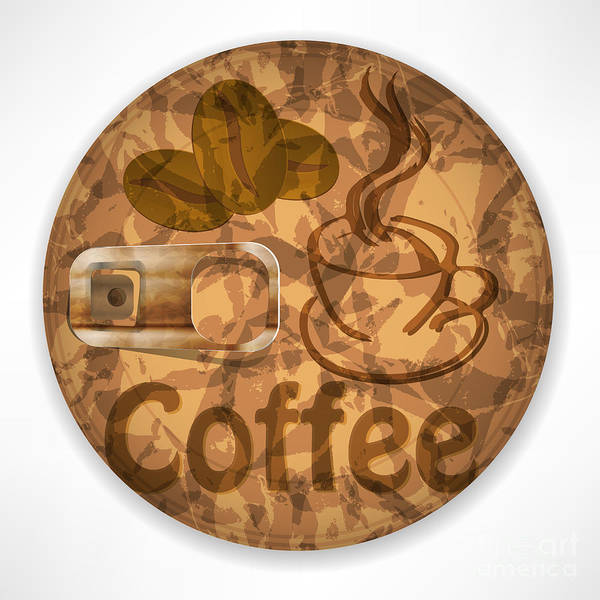 Wall Art - Digital Art - Coffee Lid Isolated On White Background by Berkut