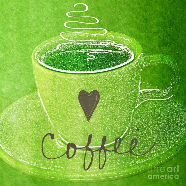 Greens Painting - Coffee by Linda Woods
