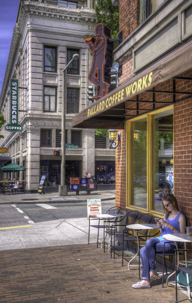 Ballard Wall Art - Photograph - Coffee On The Corner by Spencer McDonald