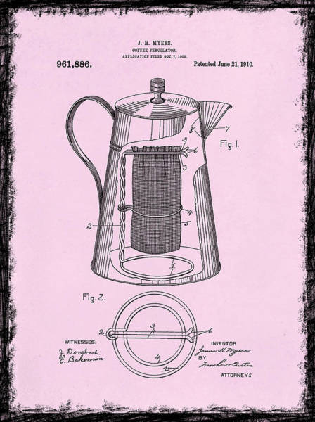 Wall Art - Photograph - Coffee Percolator Patent 1910 by Mark Rogan