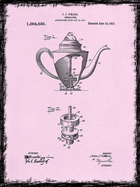 Wall Art - Photograph - Coffee Percolator Patent 1918 by Mark Rogan