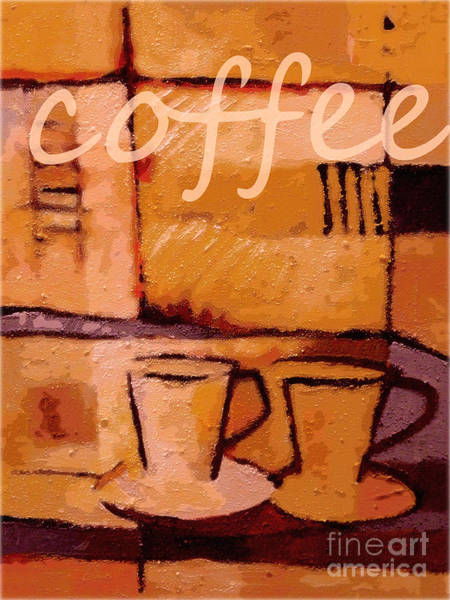 Java Painting - Coffee Poster by Lutz Baar