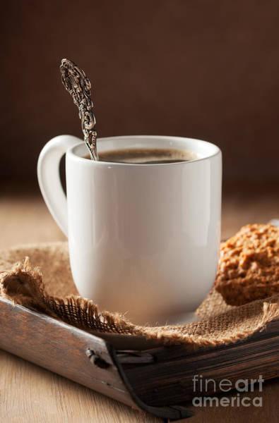 Coffee Mug Photograph - Coffee Spoon by Amanda Elwell
