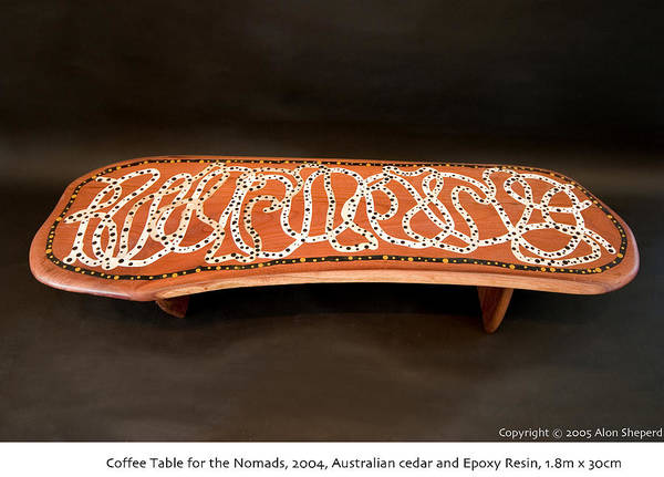 Aborigine Painting - Coffee Table by Alon Shepherd