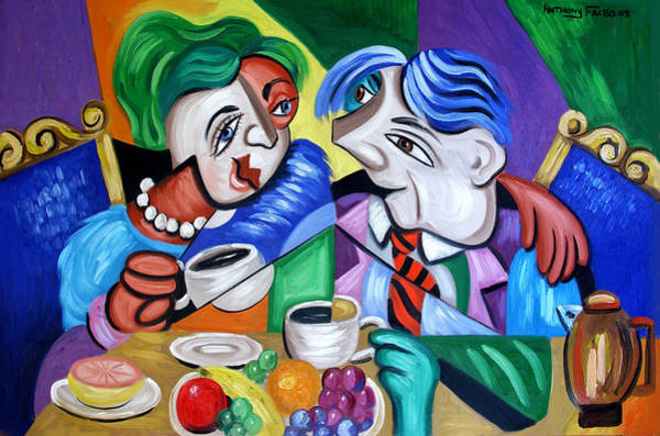 Painting - Coffee Tea Or Me by Anthony Falbo