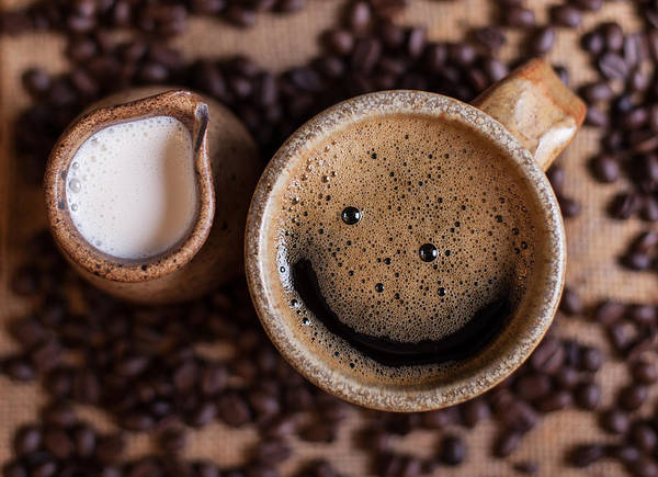 Drink Photograph - Coffee With A Smile by Aaron Aldrich