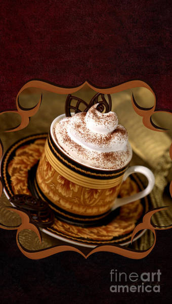 Weihnachten Photograph - Coffee With Whipped Topping And Chocolates by Iris Richardson