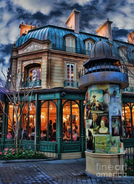 Wall Art - Photograph - Coffeehouse - Belle Soiree Au Cafe II by Lee Dos Santos