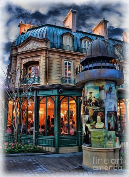 Wall Art - Photograph - Coffeehouse - Belle Soiree Au Cafe by Lee Dos Santos
