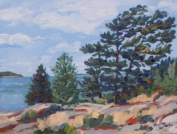 Painting - Maxwell/whalen Island by Monica Ironside