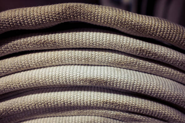 Photograph - Coiled Fire Hose Profile by Chris Bordeleau